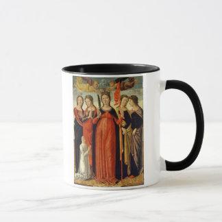 St Ursula och fyra Saints (tempera på panel) Mugg
