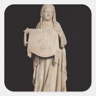 St.-Veronica, c.1310 Fyrkantigt Klistermärke
