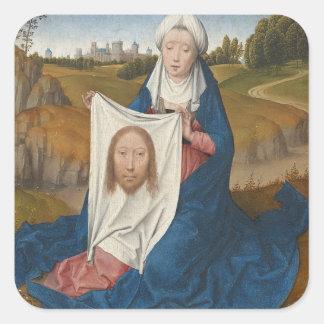 St.-Veronica, c.1470-1475 (olja på panel) Fyrkantigt Klistermärke