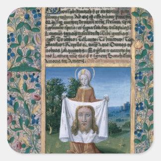 St.-Veronica Fyrkantigt Klistermärke