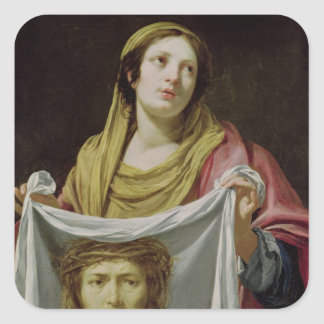 St.-Veronica-innehav som heligan döljer Fyrkantigt Klistermärke