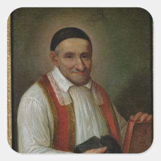 St. Vincent de Paul 1649 Fyrkantigt Klistermärke
