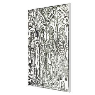 St. Wenceslaus, Adalbert, Stanislaus St. Florian Canvastryck