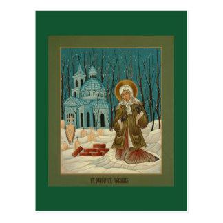 St. Xenia av det St Petersburg bönkortet Vykort