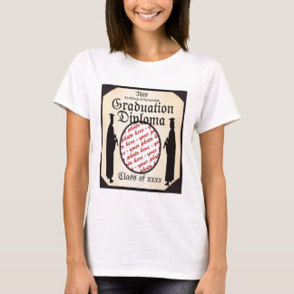 Stå högväxt - ram för studentendiplomfoto tee shirt