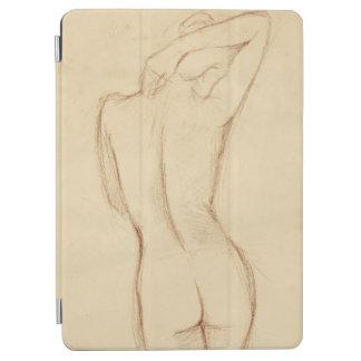 Stå näck kvinnlig teckning iPad air skydd