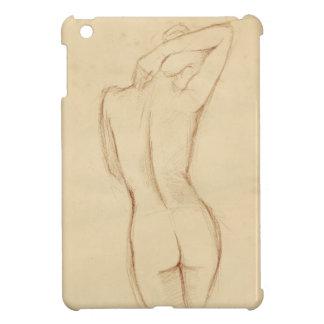 Stå näck kvinnlig teckning iPad mini mobil skydd