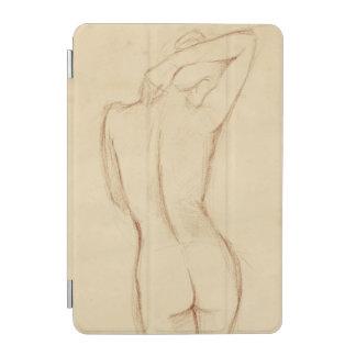 Stå näck kvinnlig teckning iPad mini skydd