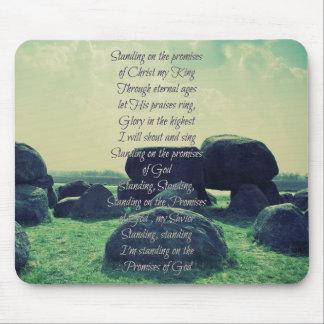 Stå på löftena av gudkristenpsalmen mus mattor