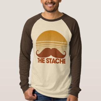 Stache den Retro designen Tee Shirt