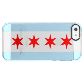Stad av den Chicago flagga Clear iPhone SE/5/5s Skal