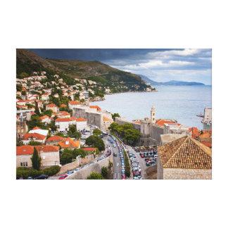 Stad av Dubrovnik i Kroatien Canvastryck