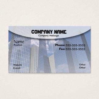 Stad av exponeringsglas visitkort