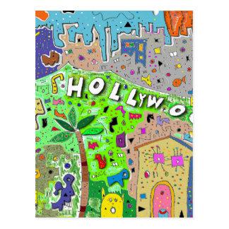 Stad av Hollywood Hills Vykort
