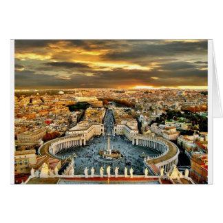 Stad av Rome Hälsningskort