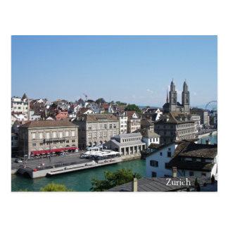 Stad av Zurich Vykort