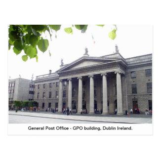 Stad Irland för GPO Dublin Vykort