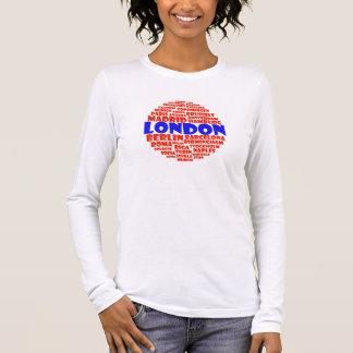 Stad på världskvinnat-skjortan tshirts