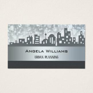 Stad som planerar visitkorten för visitkort