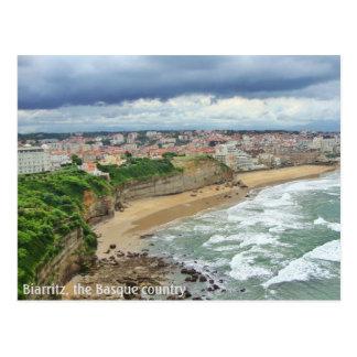 Staden av Biarritz - ett panorama- beskådar Vykort