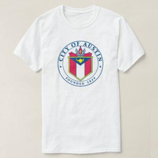 Staden av den Austin officiellen förseglar T-tröja T-shirt