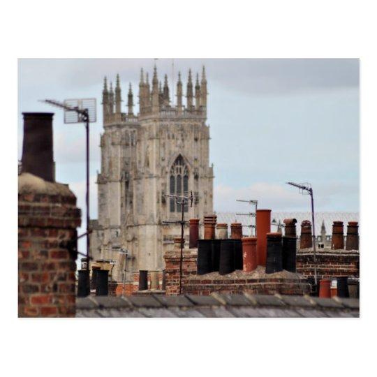 Staden av den York lampglaset lägger in vykortet Vykort