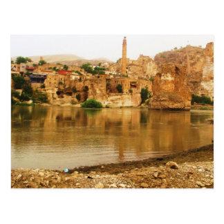 Staden av Hasankeyf, Turkiet FOTO Vykort