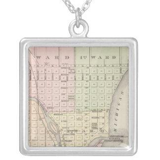 Staden av Sheboygan, länet placerar av Sheboygan C Silverpläterat Halsband
