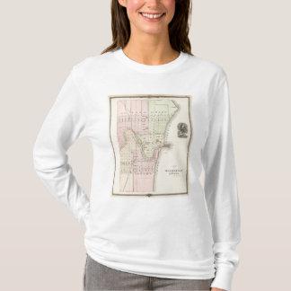 Staden av Sheboygan, länet placerar av Sheboygan T-shirt