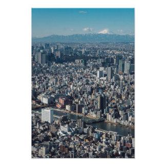 Staden av Tokyo Fototryck