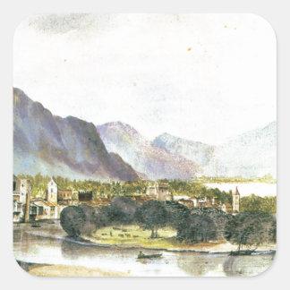 Staden av Trento av Albrecht Durer Fyrkantigt Klistermärke