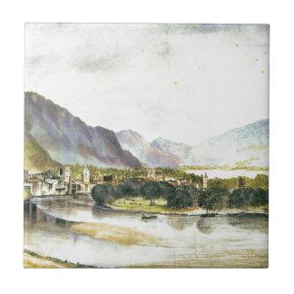 Staden av Trento av Albrecht Durer Liten Kakelplatta