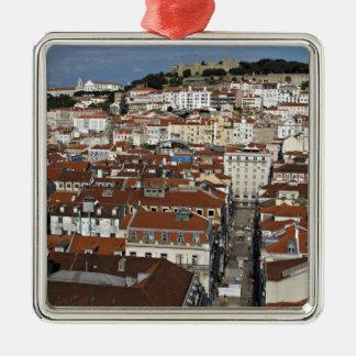 Staden beskådar av Lisbon Julgransprydnad Metall