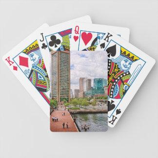Staden - hamnställe - Baltimore världshandel centr Spelkort