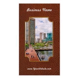Staden - hamnställe - Baltimore världshandel centr Visitkort Mall