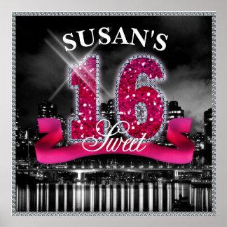Staden tänder sweet sixteen ID117 Poster