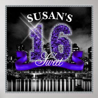 Staden tänder sweet sixteenlilor ID119 Poster
