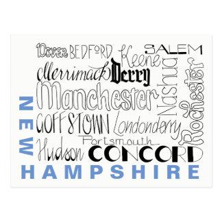 Städer i New Hampshire Vykort