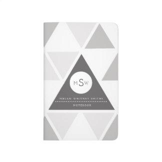 Stads- beställnings- Monogram för triangel | Budna Anteckningsbok