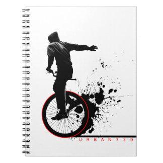 Stads- enhjuling B Anteckningsbok Med Spiral