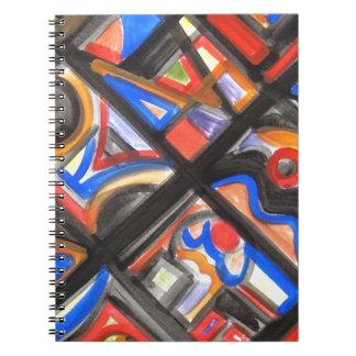 Stads- geometrisk gataEn-Abstrakt konst Anteckningsbok Med Spiral