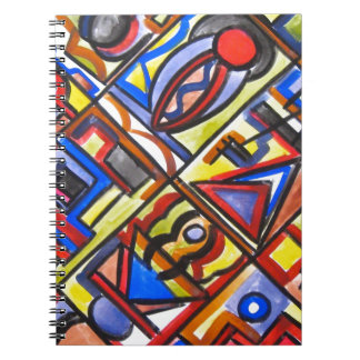 Stads- geometrisk gataTvå-Abstrakt konst Anteckningsbok