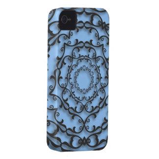 Stads- gotisk svart rulla Case-Mate iPhone 4 fodral
