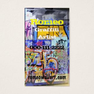 Stads- grafittivisitkort visitkort