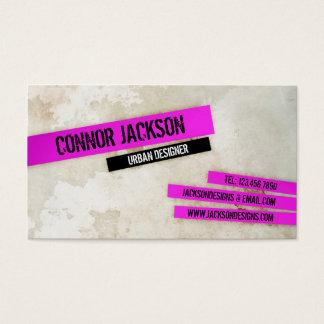 Stads- Grunge med viktig - rosor Visitkort