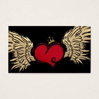 Stads- hjärtaformgivare visitkort