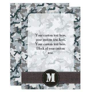 Stads- kamouflage 12,7 x 17,8 cm inbjudningskort