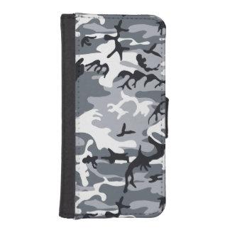 Stads- kamouflage plånboksfodral för iPhone SE/5/5s