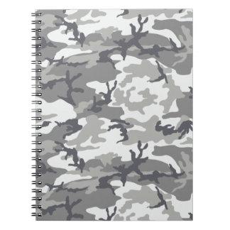 Stads- kamouflageanteckningsbok anteckningsbok med spiral