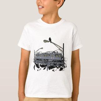 Stads- konstnärligt illustrerat El-tåg & kråkor Tee Shirts